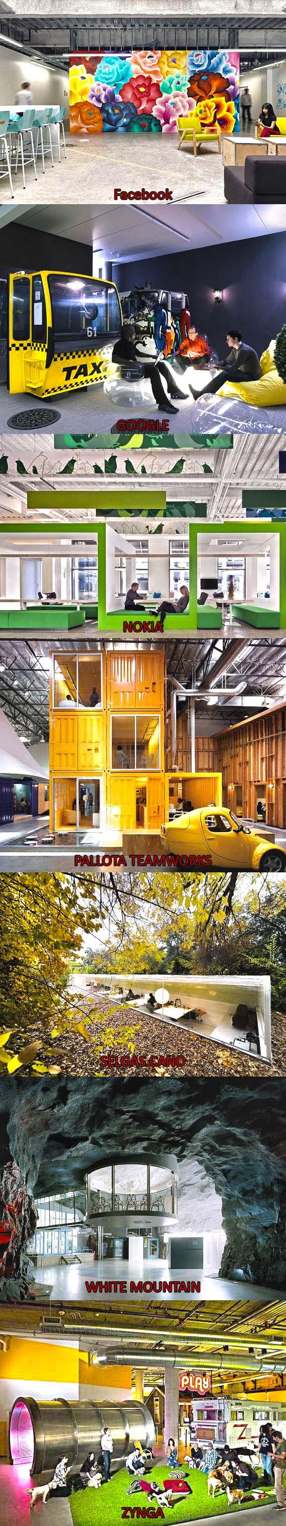 yaratıcı ofis tasarımları